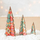 Christmas Tree Set, Aztec Design