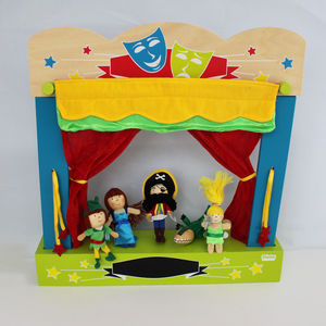 Wooden Finger Puppet Theatre - pretend play & dressing up