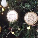 Rose Gold Christmas Message Tree Decorations
