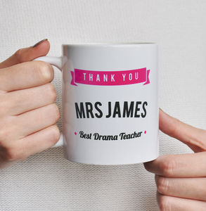Personalised Thank You Teacher Mug - gifts for teachers