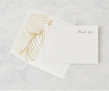 'Flock Of Gold' Thank You Card Set