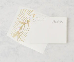 'Flock Of Gold' Thank You Card Set - desk accessories