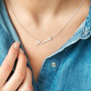 Mama Script Pendant Personalised Necklace