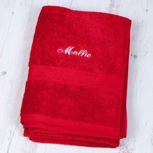 Luxury Personalised Bath Sheet