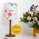 Blue Tits And Bright Florals Drum Lampshade