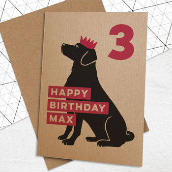 Personalised Age Birthday Card For Dogs