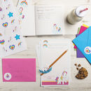 Personalised Unicorn Stationery Bundle