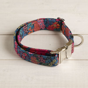 Beatrix Liberty Fabric Dog Collar - dogs