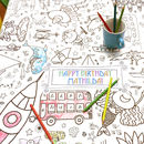 Colour In Tablecloth Teatime *Personalise It Option