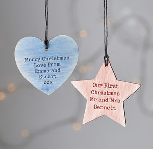 Personalised Christmas Keepsake Decoration Bauble - tree decorations