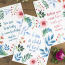 Set Of Three Nursery Bible Verse Prints