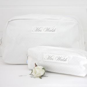 Bride's Washbag And Make Up Bag Gift Set