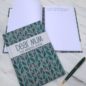 Mum Memories Journal - gifts from older children
