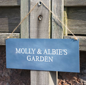 Personalised Garden Sign - gifts for grandparents