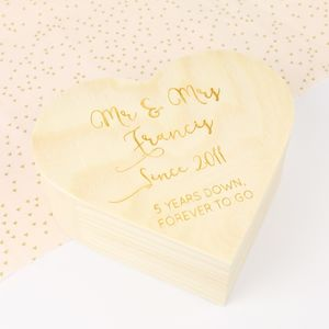 Personalised Wooden Heart Box - sewing & knitting
