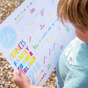 Personalised Summer Holiday Wall Planner