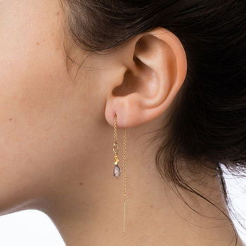 Faceted Fair Trade Thread Earrings