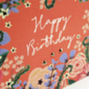 'Happy Birthday' Floral Mini Card