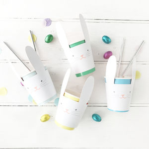 Colourful Bunny Rabbit Paper Cups