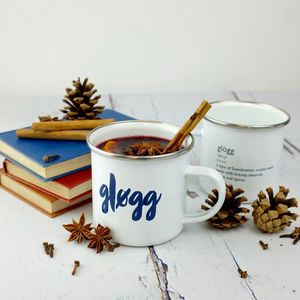 Hygge Inspired Enamel Glogg Mug - feeling cosy - hygge home ideas