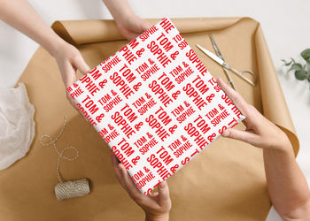 Personalised Letterpress Wrapping Paper