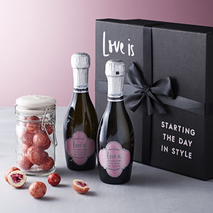 Personalised Prosecco Valentine's Gift Set - personalised gifts for her