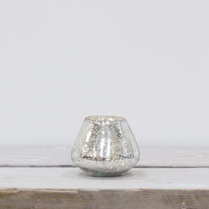 Akemi Mercury Glass Candle Holder