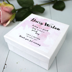 Personalised Wedding Favour Or Place Card Box - wedding favours