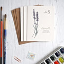 Set Of Three Watercolour Lavender Mini Notecards