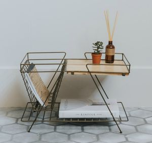 Brass And Wood Retro Magazine Rack - magazine racks