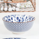 Blue And White Floral Mosaic Bowl Collection