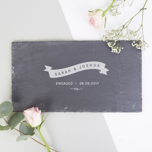 Engagement Gift Personalised Slate Serving Board