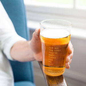 'Cheers Dad' Etched Pint Glass - best father's day gifts