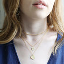 Layered with Other Necklaces