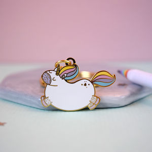 Magical Unicorn New Home Keyring Gift