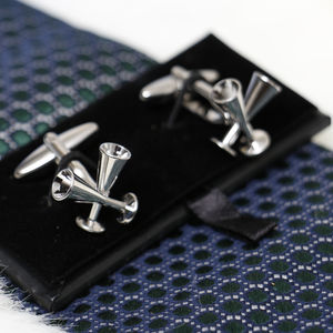 Wedding And Anniversary Wine Goblets Cufflinks Set
