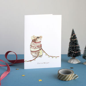 'Chris Mouse' Christmas Card