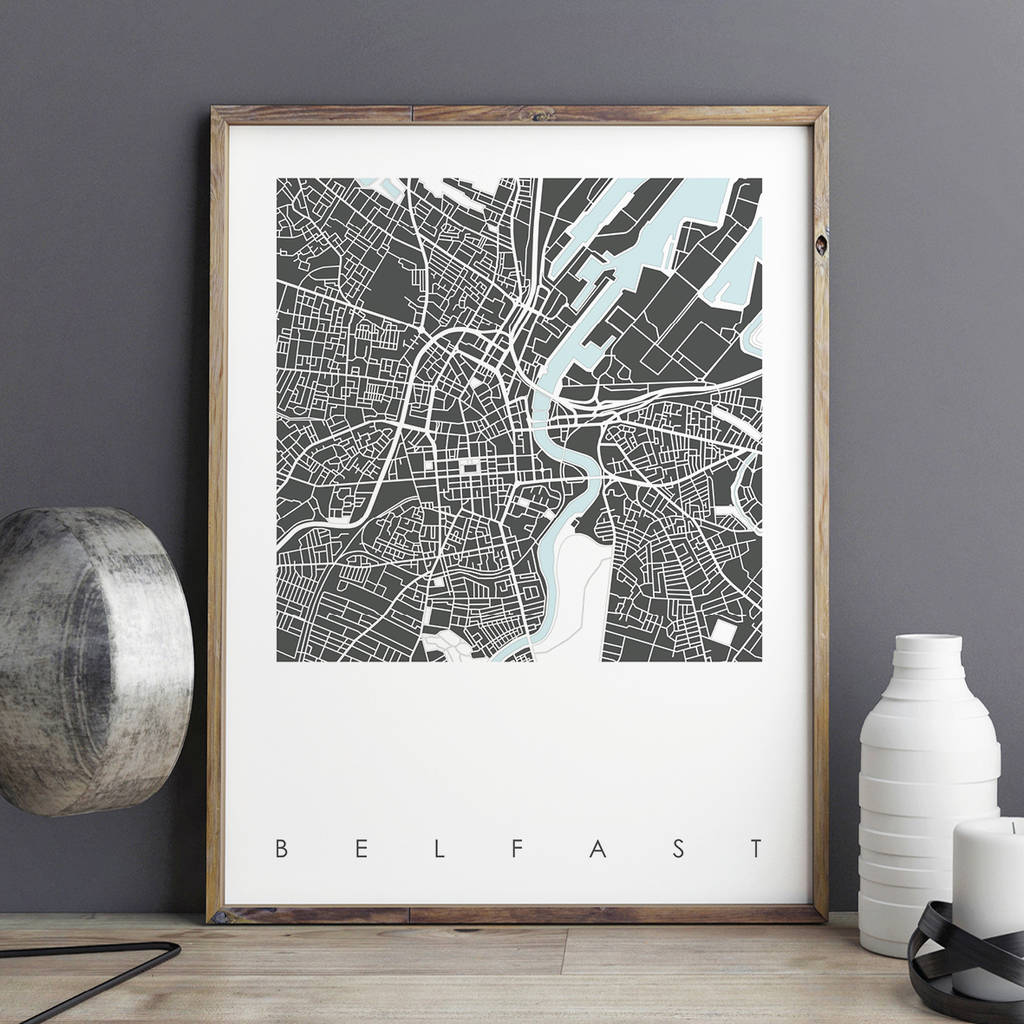Belfast Map Art Prints Limited Editions belfast