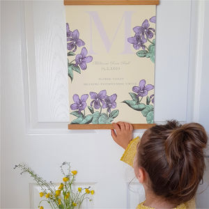 Personalised Birth Flower Print