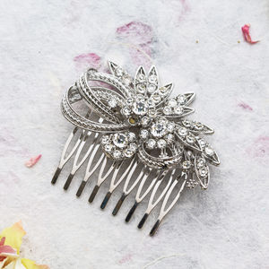 Gloria Crystal Hair Comb - bridal accessories