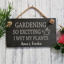 Personalised Engraved Gardening Slate Sign
