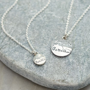 Silver Mother And Daughter Elephant Necklace Set