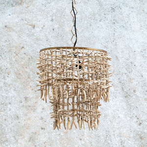 White Wooden Chandelier - chandeliers