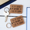 Personalised All My Favourite People Keyring