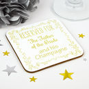 Personalised Father Of The Bride Wedding Coaster