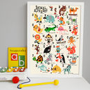 Animal Alphabet Children's Nursery Print A3 Size
