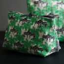 Zebra And Palm Small Make Up Bag