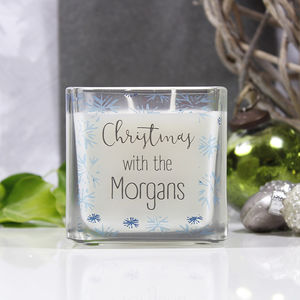 Christmas With The Family Scented Square Candle