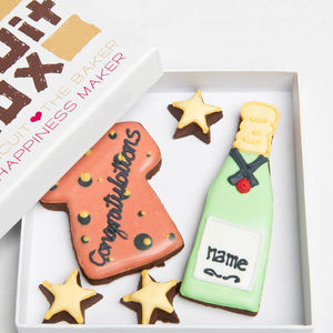 Personalised 'Congrats' Cork Biscuits Gift - our favourite leaving gifts