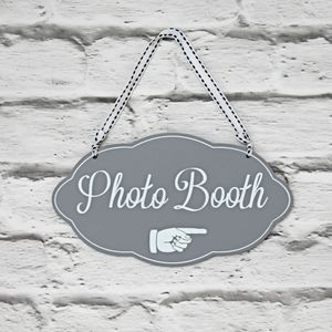 Wooden Photo Booth Sign - room decorations